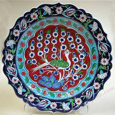 Çini Tabaklar İznik Kütahya Seramikleri Ottoman Ceramic Plates 18cm El Yapımı Hand Made Turkish Ceramics Cini Tabak Ceramic Plates, Ceramic Art, Decorative Plates, Was Ist Pinterest, Turkish Art, Blue Pottery, Oriental, Ceramic Design, Tile Art