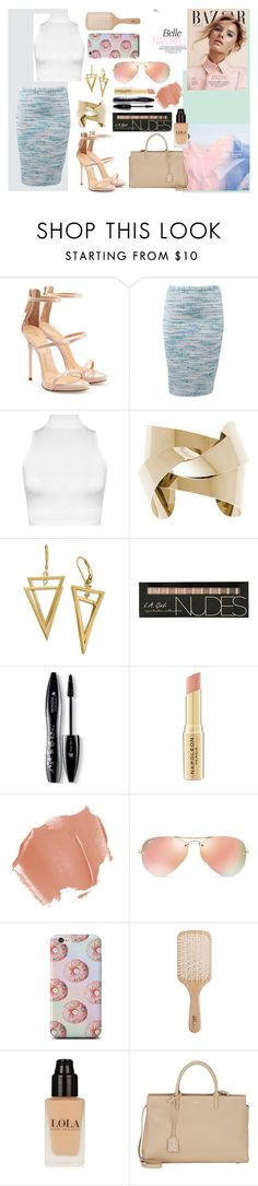 """""""Untitled #183"""" by alex-xo-xo ❤ liked on Polyvore featuring Giuseppe Zanotti, Cynthia Rose, WearAll, Lancôme, Napoleon Perdis, Ray-Ban, Philip Kingsley and Yves Saint Laurent"""