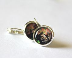 Johnny Depp Earrings Epoxy Dome Dangle by HConwayPhotography, $9.50