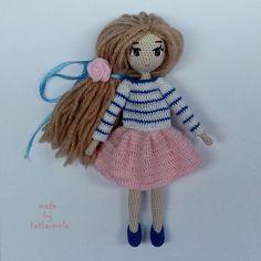 схема вязания куклы крючком