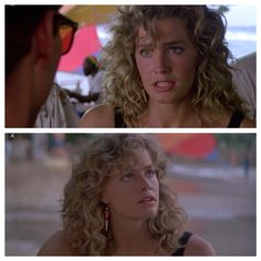 "Curly hair goals: Elizabeth Shue in ""Cocktail"" circa 1989 (I think)"