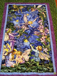 Lap/throw quilt blanket:  Fairies and more Faries by GardenofQuiltsShop on Etsy https://www.etsy.com/listing/475494585/lapthrow-quilt-blanket-fairies-and-more
