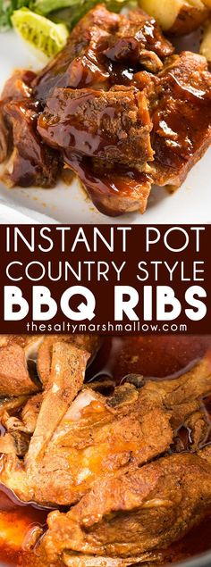 Instant Pot Country Style BBQ Ribs make the perfect weeknight dinner recipe that the whole family will love! These boneless pork ribs are quick and easy made right in the instant pot.