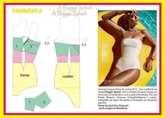 A Bigger Splash. Lingerie Patterns, Sewing Lingerie, Clothing Patterns, Underwear Pattern, Sewing Clothes, Diy Clothes, Sewing Paterns, Swimsuit Pattern, Modelista