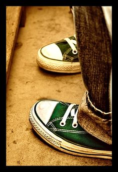 green converse..just ordered these.. bam classics
