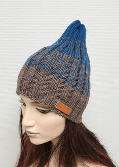 Items similar to Ribbet Beanie hat Knit winter gradient Womens slouchy knit hat Wool knit cap Gift for her Christmas gift Free shippig on Etsy Crochet Accessories, Beanie Hats, Knitted Hats, Knit Crochet, Knitting Patterns, Gifts For Her, Christmas Gifts, Cap, Wool