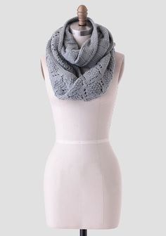 This beautifully crafted dusty gray-sage infinity scarf features a checkered pattern on one side and a diamond-shaped, open-knit design on the other. Perfect for keeping warm during the colder mo...
