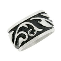 Men's Stainless Steel Engraved Band with Black Plating Ring Amazon Curated Collection. $19.00. Pair this band ring with any outfit.. Testify to your sense of style with this stainless steel ring. Made in China