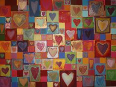 Lots of love! Each heart I painted has its own story...just like each one of us. ©annalouwalker❥2012