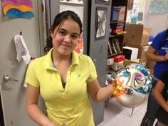 Karol from our Commerce City Branch not only won Junior Youth of the Year this year, but was selected by Congressman Perlmutter to create a mask for The Mask Project!