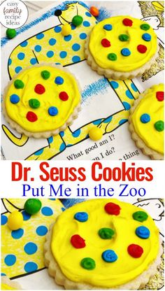 Seuss Cookies Put Me in the Zoo - Dr. Seuss Cookies Put Me in the Zoo, You can find the best Dr. Seuss Fun Food & Craft Ideas for Kids - Dr. Seuss, Dr Seuss Week, Dr Seuss Birthday Party, Birthday Party Games, Birthday Board, Birthday Crafts, Happy Birthday, Birthday Kids, Birthday Wishes