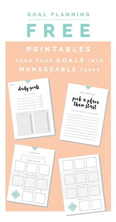 Goal Planning Free Printables are the perfect way to make your goals become a reality. #GoalSetting