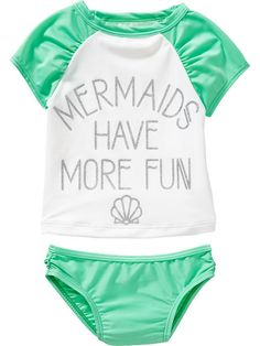"""Mermaids"" Tankinis for Baby"