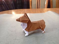 Origami Corgi Instructions-Go to the website and read the comments for written instructions.