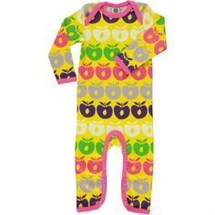 Smafolk jumpsuit 'Appels' roze - De Oude Speelkamer
