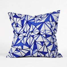 Blue and White Origami Pillow Cover