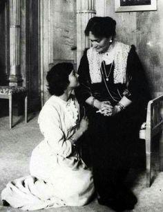 "Empress Alexandra Feodorovna of Russia with her second daughter,Grand Duchess Tatiana Nikolaevna Romanova of Russia. ""AL"""