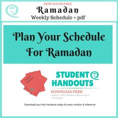 Plan your schedule for Ramadan. This article includes a Free Ramadan Weekly Schedule plus a pdf version of this article for you to download.   Ramadan planners, Ramadan, #ramadan