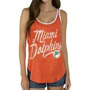 Miami Dolphins Junk Food Women's Roster Ringer Tank Top – Orange