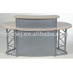 steel based reception desk