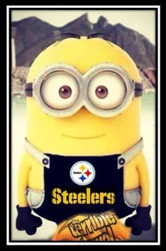 Even minions are #Steelers fans