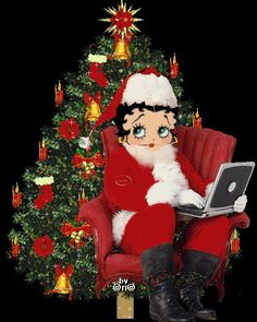 Merry Christmas To You All! #gif #bettyboop #illustration ✿⊱╮