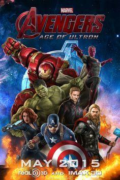 #Avengers #Fan #Art. (Avengers: Age of Ultron Promo Poster (Fan made) By: Chenshijie9095. ÅWESOMENESS!!!™ ÅÅÅ+