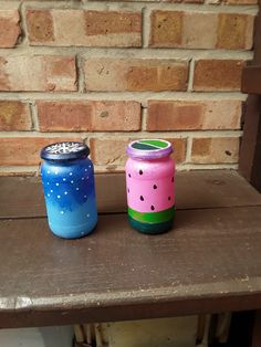 DIY painted tea lights. Diy Painting, Tea Lights, Water Bottle, Drinks, Gifts, Presents, Tea Light Candles, Water Bottles, Gifs