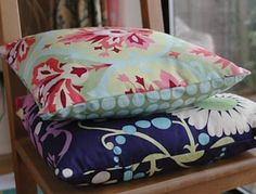 Tutorial - An envelope back cushion cover