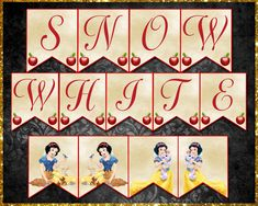 Snow White Banner Etsy Store, Your Design, Banners, Vibrant Colors, Card Stock, Snow White, Lettering, Paper, Letters