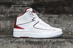 new arrival 0047b 45221 Air Jordan 2 Retro White Red
