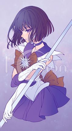 Sailor Saturn by eclosion Sailor celebrate the third phase will begin broadcasting Sailor Moon Tumblr, Sailor Moon Girls, Arte Sailor Moon, Sailor Moon Fan Art, Sailor Moon Character, Sailor Uranus, Sailor Mars, Sailor Saturn Cosplay, Sailor Saturn Crystal