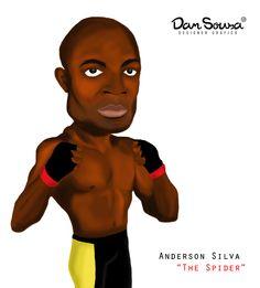 Anderson Silva artwork by Dan Sousa