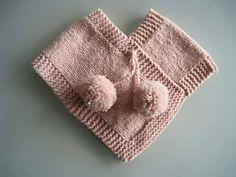 Kız bebek ve çocuklarına yapabilmeniz için sitemizde örgü bebek panço yap… We shared the construction of knitted baby poncho on our website for you to make baby girl and children. You will appreciate this model that we share in narration. Baby Knitting Patterns, Knitting For Kids, Baby Patterns, Knitting Projects, Crochet Patterns, Crochet Poncho, Crochet Baby, Girls Poncho, Baby Cardigan