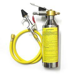Auto Air Condition AC System Flush Canister Gun Kits Clean Tool Set R134 R12 R22 R410 R404