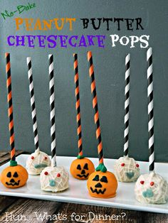 Hun... What's for Dinner?: {No Bake} Peanut Butter Cheesecake Pops