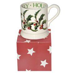 """Flowers"" Holly 1/2 Pint Mug (Boxed) at Emma Bridgewater"