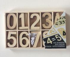 50 x Holz Holzbox Basteln Zahl Deko Box 4 cm hoch 50 Stück | eBay