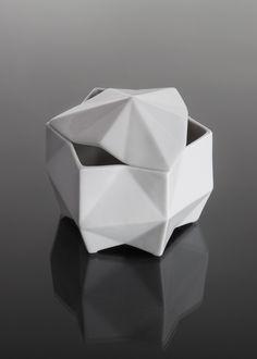 Sugar Bowl Lilia sugar bowl fuses the geometry of Czech Cubism with the be. Sugar Bowl Lilia sugar bowl fuses the geometry of Czech Cubism with the beautiful contours of Dinnerware Sets, Ceramic Pottery, Geometry, Art Deco, Porcelain, Contemporary, Modern, Shapes, Tableware