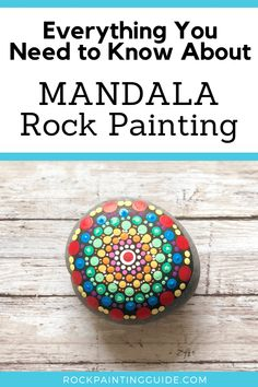 Beginners Guide to Mandala Rock Painting covers mandala techniques, how to paint dot art mandalas, Zendalas, mandala rock painting ideas and tips. Rock Painting Patterns, Dot Art Painting, Rock Painting Designs, Mandala Painting, Dot Painting On Rocks, Mandala Stencils, Matte Painting, Mandala Painted Rocks, Mandala Rocks