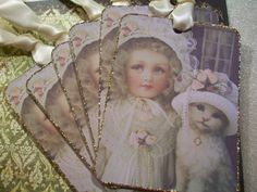 XL Glittered All Dressed Up Gift Tags/Notecards  by smtiffanylane, $5.50