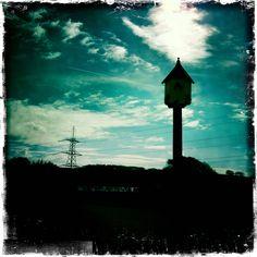 Dovecote and pylon