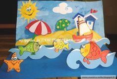 Новости Sea Crafts, Fish Crafts, Paper Crafts, Seasons Activities, Fun Activities For Kids, Summer Crafts, Summer Art, Australia Crafts, Art For Kids