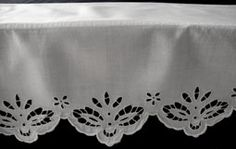 Lovely white linen and lace supper cloth from The Old Lace and linen shop