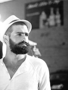 A men's fashion/lifestyle moodboard featuring men's street style looks, beards and various facial hair styles, tattoo art, inspiring street fashion photography, and clothing from the best menswear. Beards And Mustaches, Moustaches, Great Beards, Awesome Beards, Hairy Men, Bearded Men, Sexy Beard, Epic Beard, Beard Lover