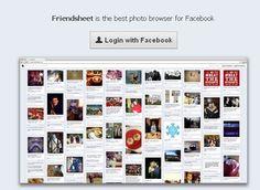 FriendSheet: Voir les photos de Facebook à la manière de Pinterest