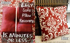 Easily Recover Sofa Pillows in 15 Minutes to Make Like New, Plus How To Wash Throw Pillows
