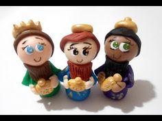 DIY REYES MAGOS Tutorial - Nacimiento Navideño - cold porcelain arts crafts