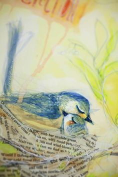 Detail of watercolor marker lesson with Jane Davenport
