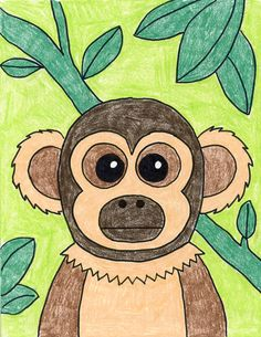 How to Draw a Monkey · Art Projects for Kids